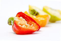 Small chili bell paprika on white background Royalty Free Stock Photos