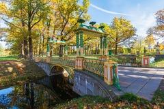 Small Chinese bridge in the Alexander Park of Tsarskoye Selo (Pu Stock Photos