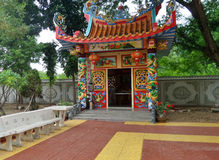 Small Chinese shrine in the quiet corner Royalty Free Stock Images