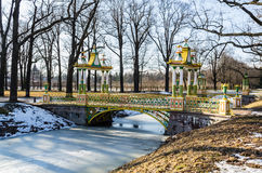 Small Chinise Bridge in Alexander Park Stock Photography