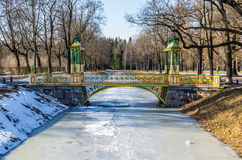 Small Chinise Bridge in Alexander Park Royalty Free Stock Photo