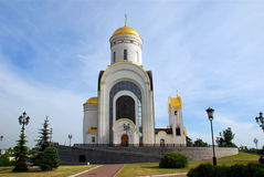 Small chirch in Moscow. Small russian orthodox church in Moscow Stock Photography