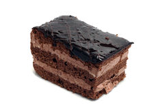 Small chocolate cake isolated Stock Photo