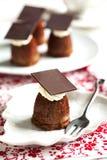 Small chocolate cake. Stock Photos