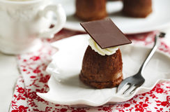 Small chocolate cake. Stock Images