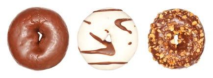 Small Chocolate Donuts Stock Photo
