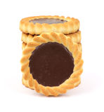Small chocolate filled tarts Royalty Free Stock Photography