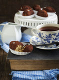 Small Chocolate Sweet Cake Stock Photo