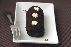 Small chocolate sweet cake Royalty Free Stock Photography