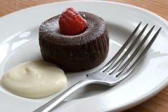 Small chocolate tart Stock Photography