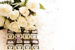Small chocolates Royalty Free Stock Images