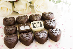 Small chocolates Stock Photo