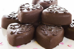 Small chocolates Stock Images