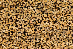 Small chopped fir wood Royalty Free Stock Photos