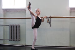 Small choreographic ballet girl Royalty Free Stock Photos