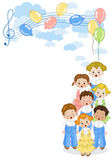 Small chorus vector illustration
