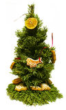 Small Chrismas Tree. With Dried Orange and Gingerbread Royalty Free Stock Photography