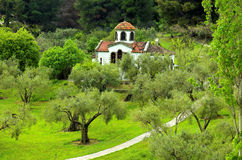 Small christian church Stock Photo
