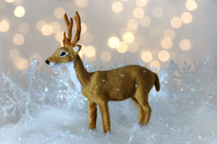 Small christmas deer Royalty Free Stock Images