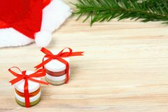 Small Christmas gifts with homemade herbal  medicine Royalty Free Stock Image