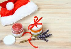 Small Christmas gifts with homemade herbal  medicine Royalty Free Stock Photography