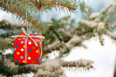 Small Christmas present Royalty Free Stock Photos
