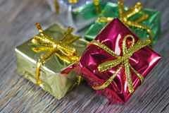 Small Christmas presents Stock Photography
