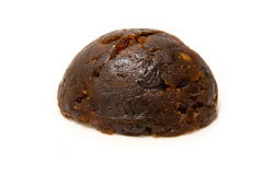 Small Christmas pudding. Isolated on a white studio background Stock Photography