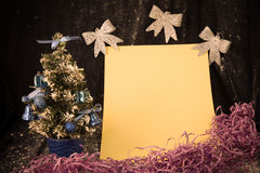 Small  Christmas tree on background for postcards and greetings Stock Images