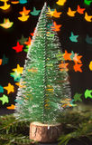 Small christmas tree bokeh Stock Image