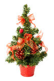 Small christmas tree with bows and cones Royalty Free Stock Photo
