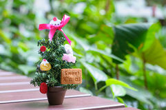 Small Christmas tree. For Christmas day Stock Images