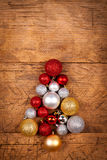 Small Christmas tree of globes Stock Images