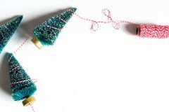 Small Christmas trees from above Royalty Free Stock Images