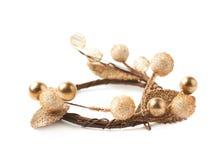 Small Christmas wreath isolated Royalty Free Stock Photos