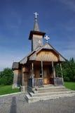 Small church. Wooden made, in Maramures, Romania stock photos