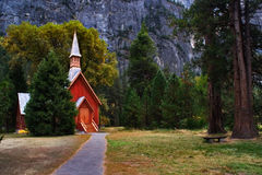Small church. It is church in Yosemite park royalty free stock photo