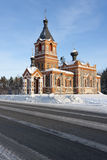 Small church at winter in Estonia Royalty Free Stock Image