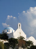 Small church. On a Greek island stock photography