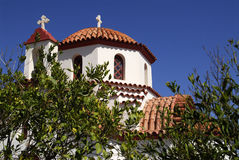 The small church. Small Christian prthodox church in Greece Royalty Free Stock Photos