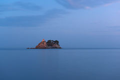 Small church on Adriatic island Stock Photography