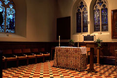 Small church altar Royalty Free Stock Image