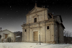 Small church in Apennines landscape Stock Photography