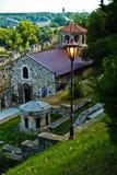 Small church below Kalemegdan fortress in Belgrade Royalty Free Stock Images