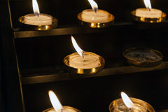 Small church candles Royalty Free Stock Images