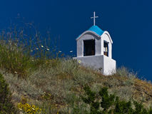 Small church or chapel on a hill near mountain Athos Stock Photo