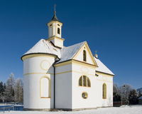 Small church or chapel at wonderful winter day Royalty Free Stock Image