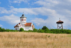 Small church in the countryside Stock Images