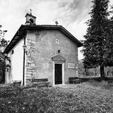 Small church dedicated to St. Anthony Abbot. Small church of the Lombard period (nineteenth century) dedicated to St. Anthony Abbot Royalty Free Stock Image