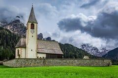 Small church in the dolomites, Alps, Italy Stock Photo